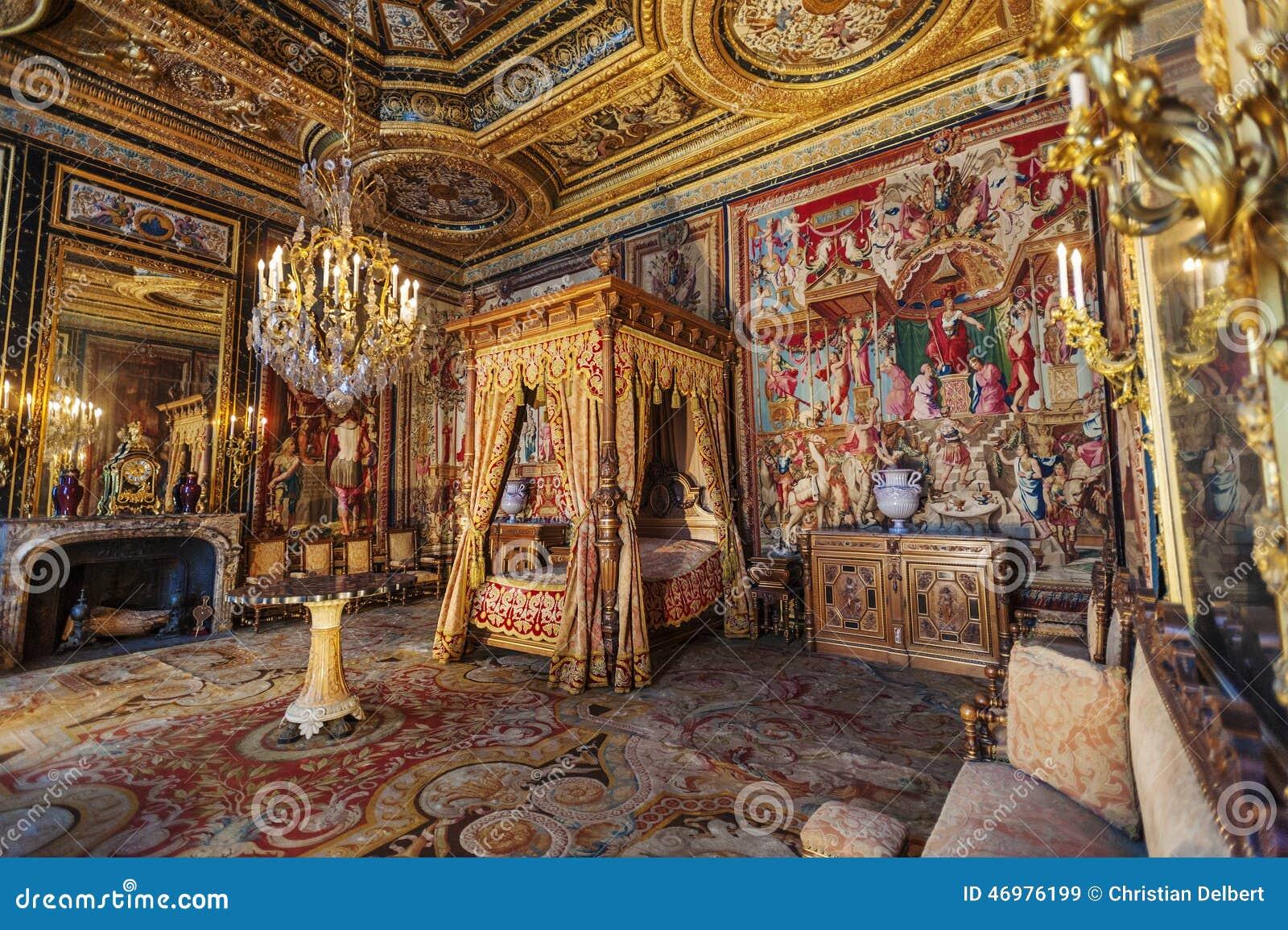 Camera da letto del de fontainebleau del castello francia - Camera da letto del papa ...
