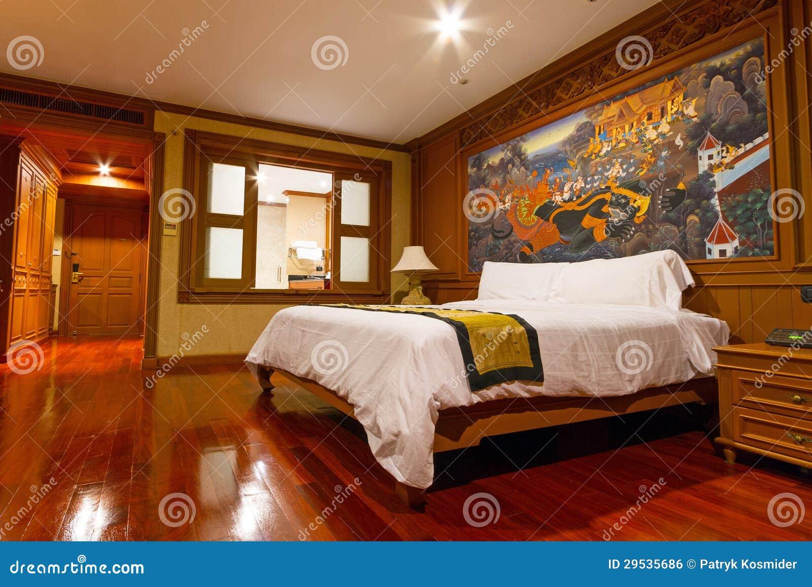 Camera da letto dell 39 albergo di lusso fotografia for Nuova camera da letto dell inghilterra