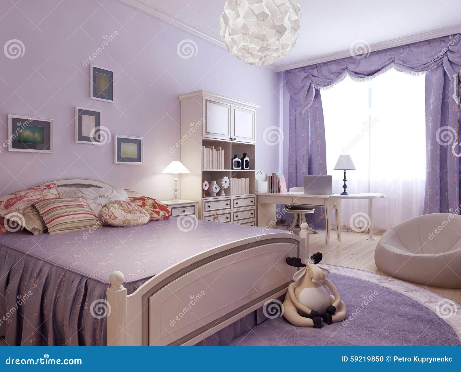 camera da letto di comodit per la ragazza dell
