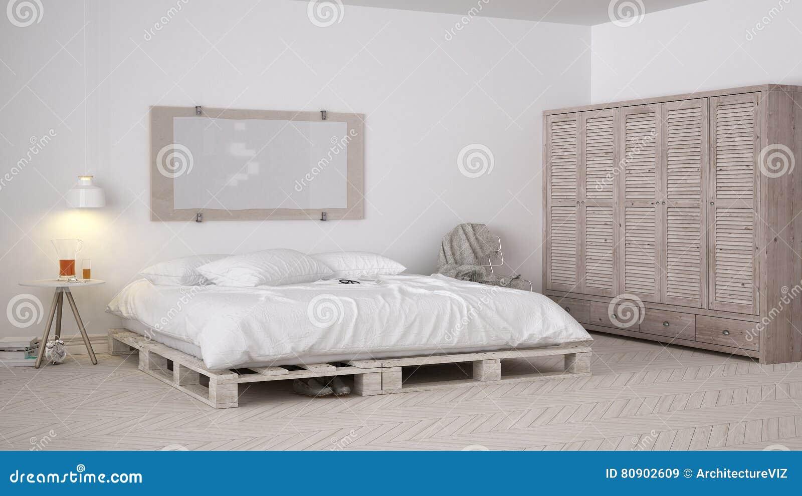 Camera Da Letto Di DIY, Progettazione Elegante Di Eco Bianco ...