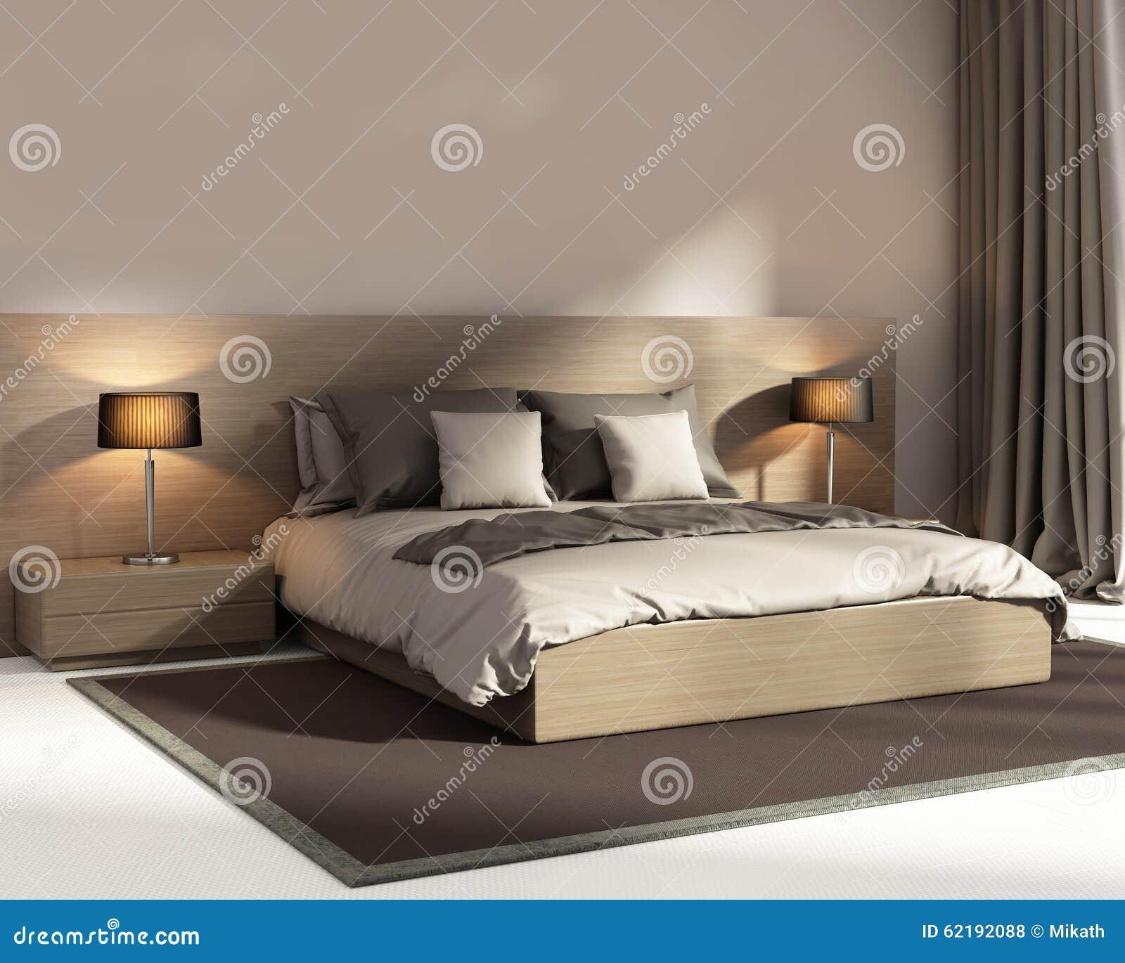 Camera da letto di lusso beige scura elegante - Disegni camera da letto ...