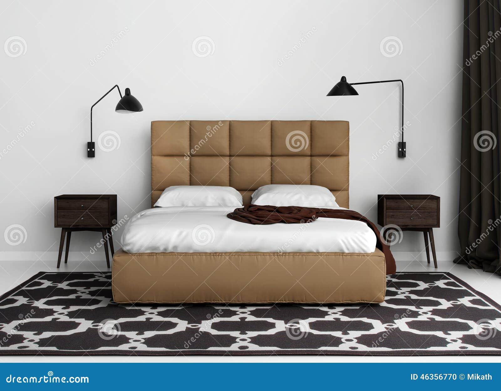 Camera da letto di lusso elegante contemporanea con il - Camera da letto di lusso ...