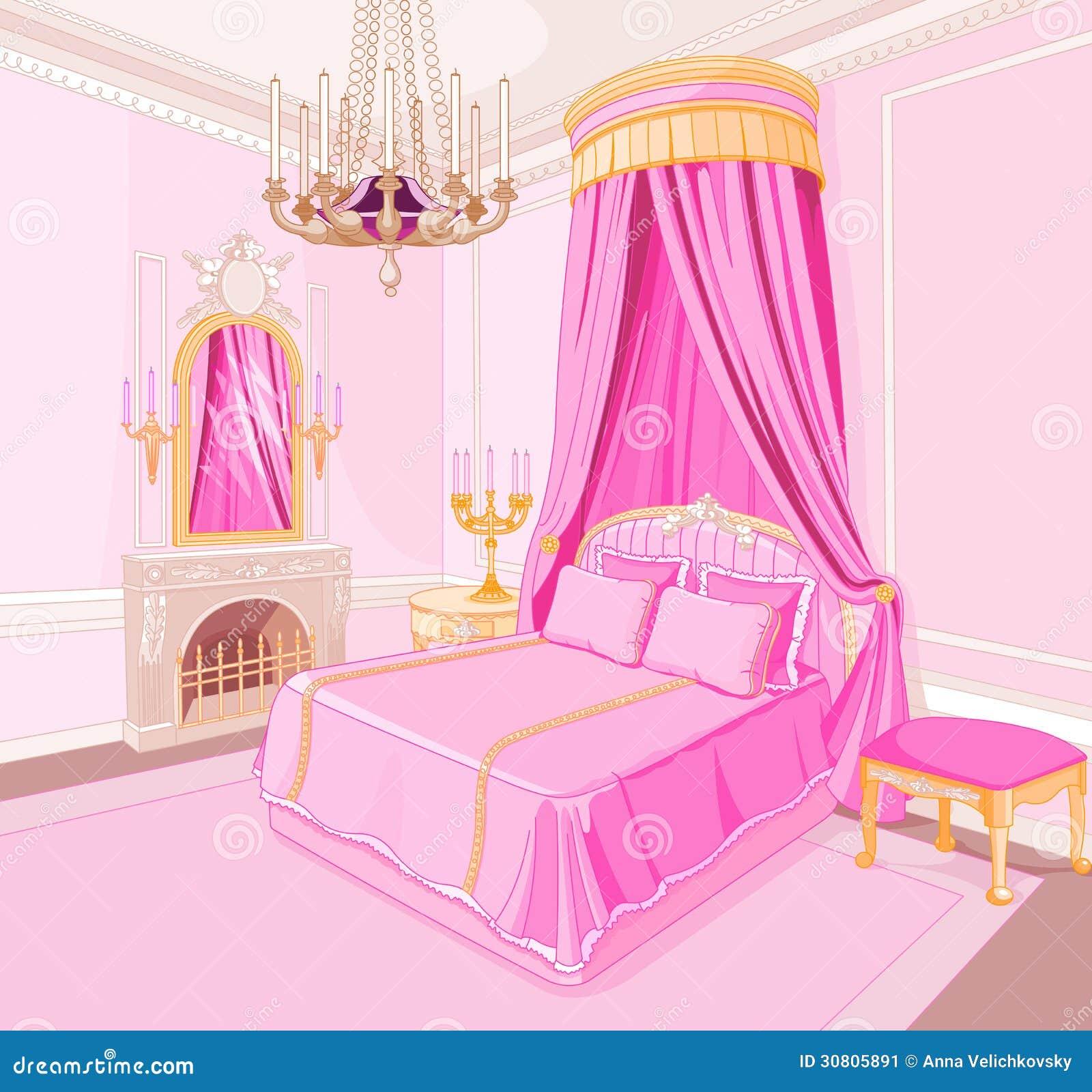 camera da letto di principessa immagine stock immagine