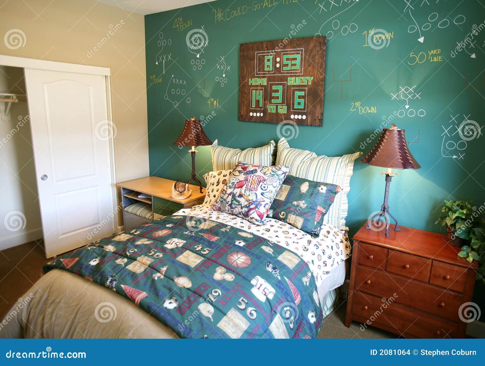 Camera da letto di sport fotografia stock immagine di for Mobilia lavagna