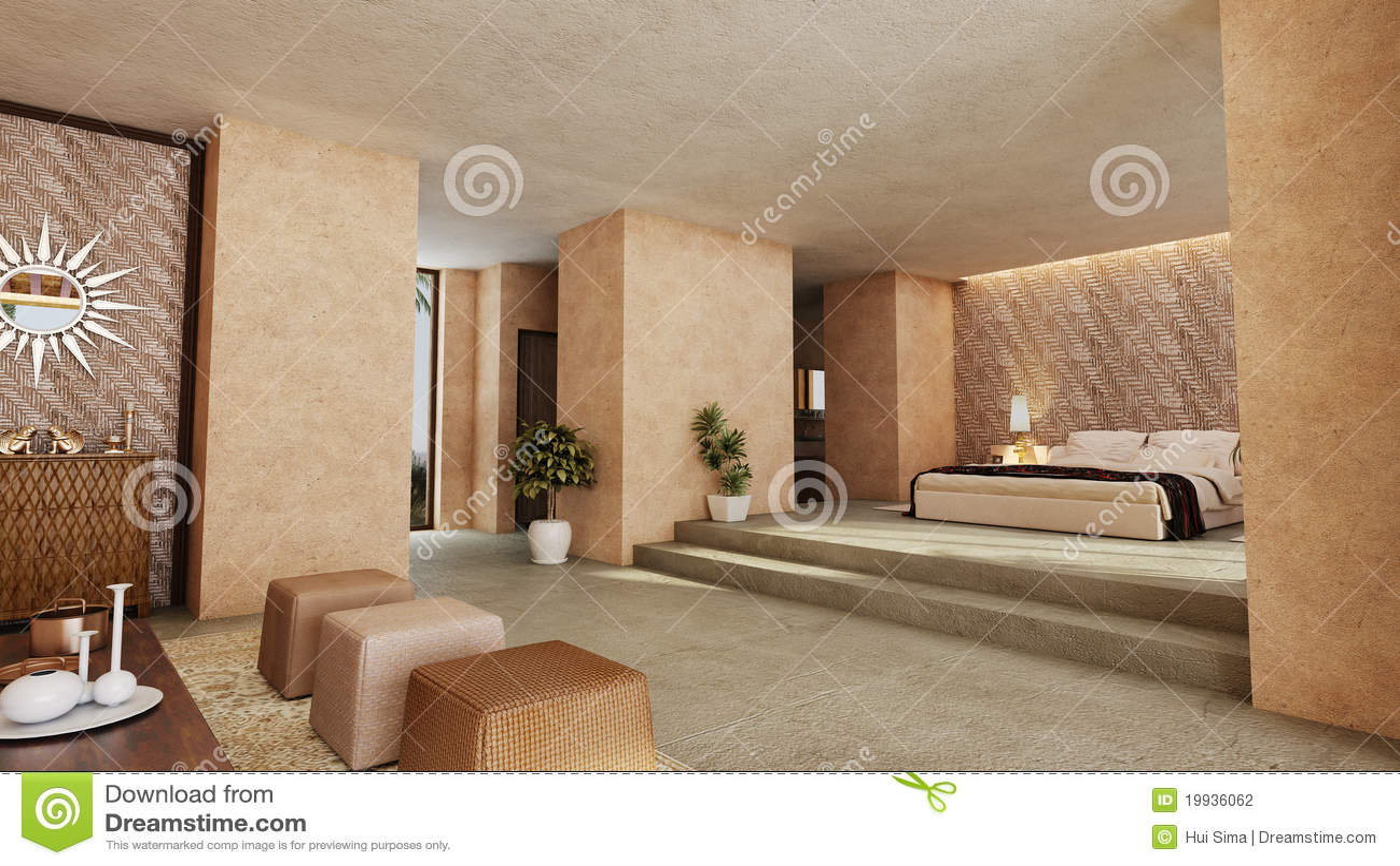 Camera da letto di stile arabo illustrazione di stock - Camere da letto orientali ...