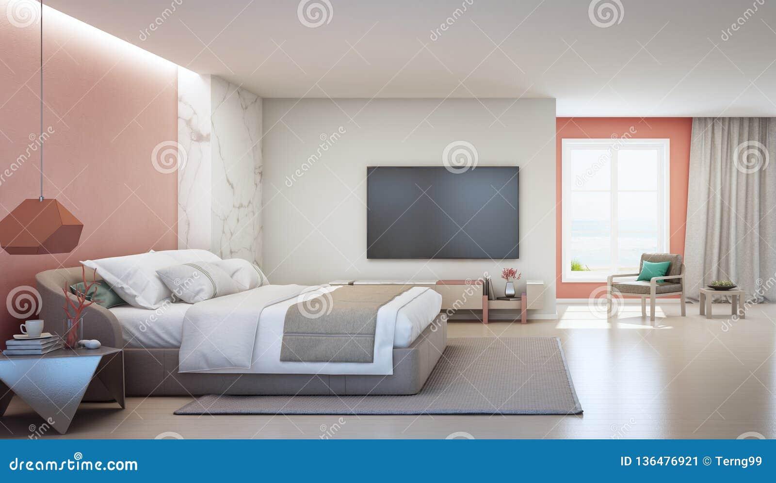 Camere Da Letto Matrimoniali Di Lusso.Camera Da Letto Di Vista Del Mare E Salone Di Corallo Rosa Della