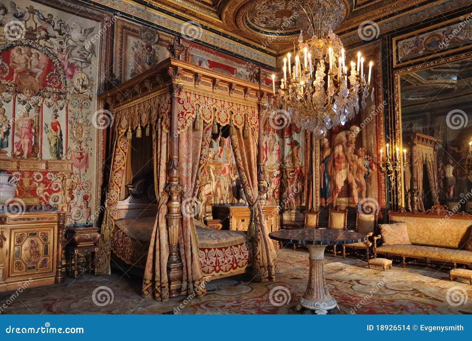 Camera Da Letto Francese Del Re Fotografia Stock - Immagine di ...