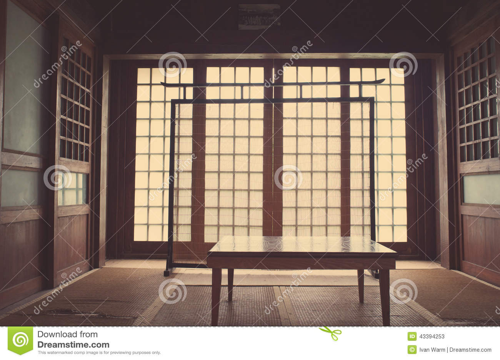 Camera Da Letto Giapponese Fotografia Stock - Immagine: 43394253