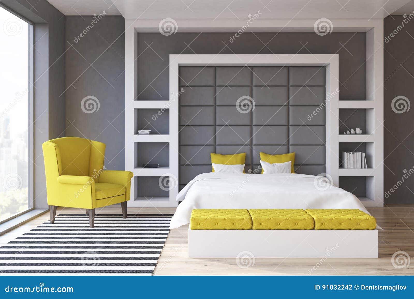 Camera da letto grigia della parete anteriore - Camera da letto grigia ...