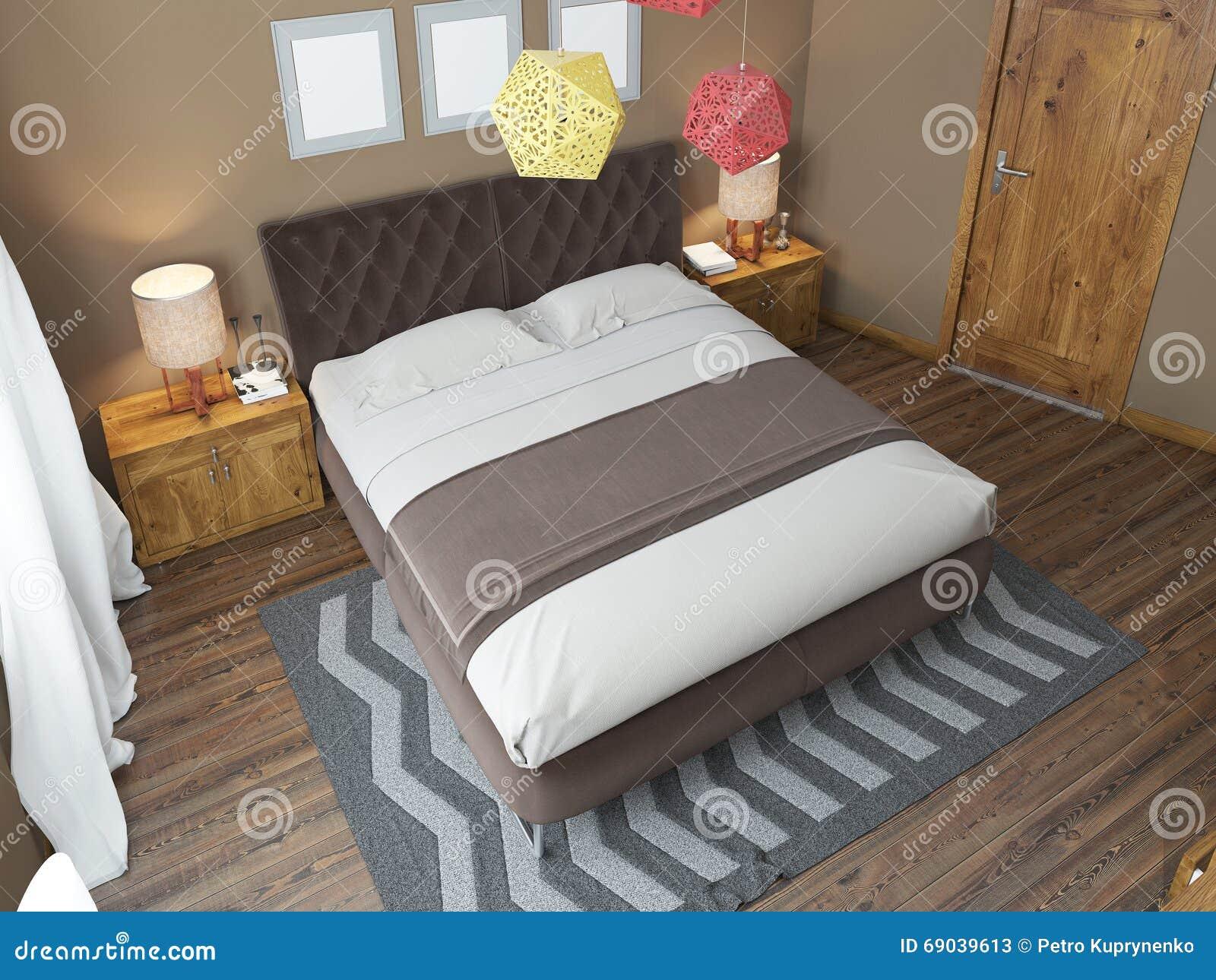 Camera da letto luminosa di lusso nel sottotetto - Camera da letto di lusso ...
