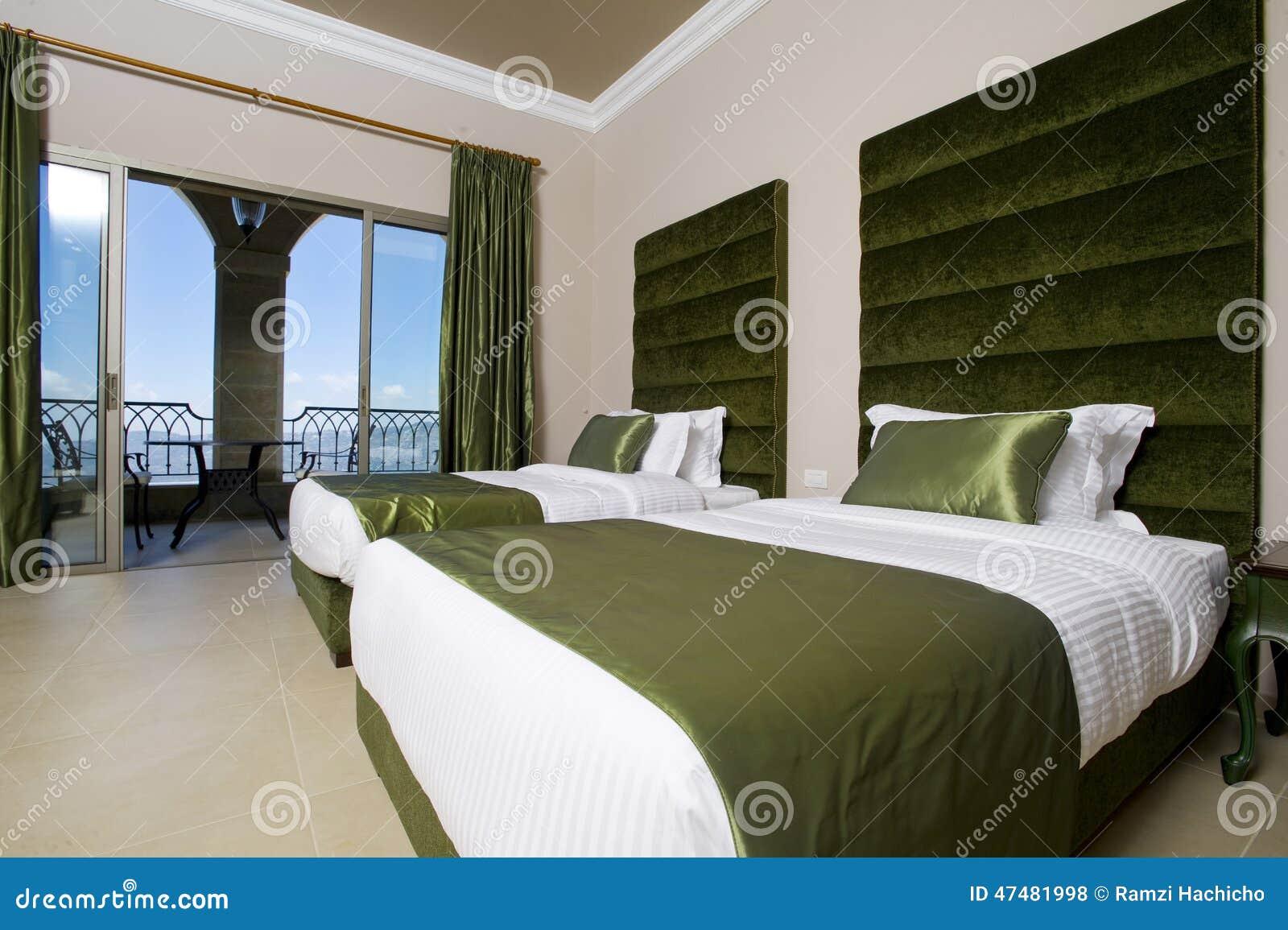 Camera Da Letto Lussuosa Con I Balconi, Camera Da Letto Dellhotel Dell