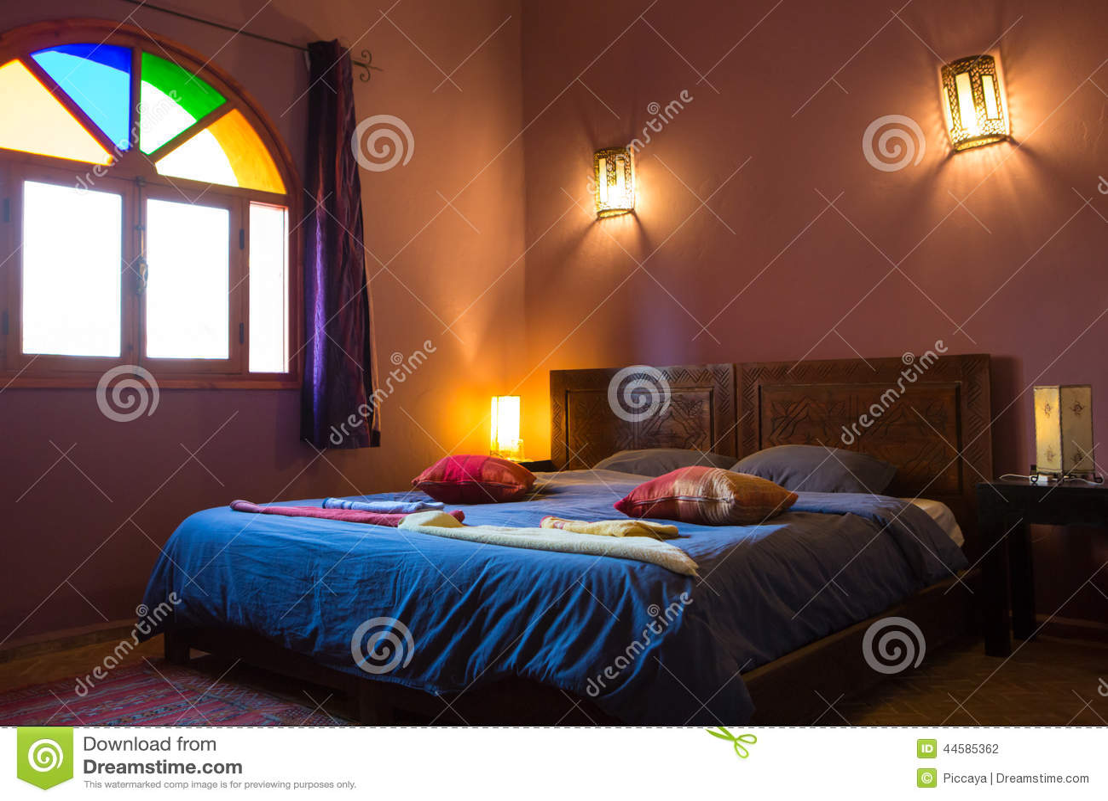 Camere Da Letto Marocco : Camera da letto marocchina autentica nel riad tradizionale
