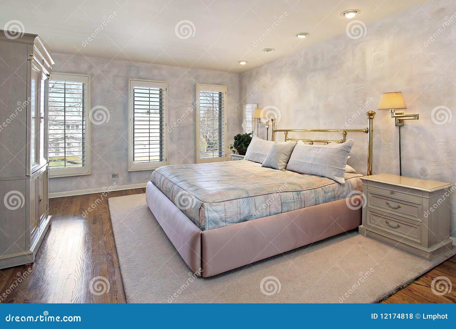 Camera da letto matrice con i pavimenti di legno fotografia stock immagine di dimora stanza - Camera da letto legno ...