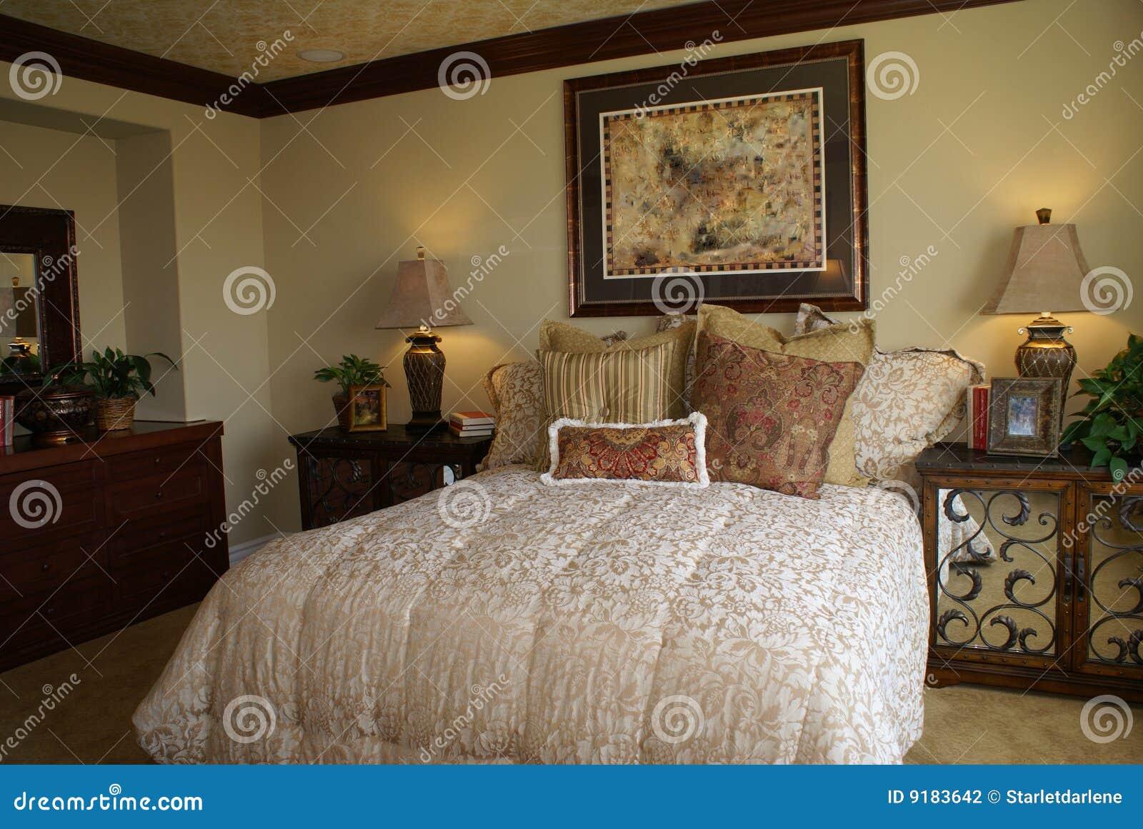 Camera da letto matrice elegante fotografia stock - Camera da letto elegante ...