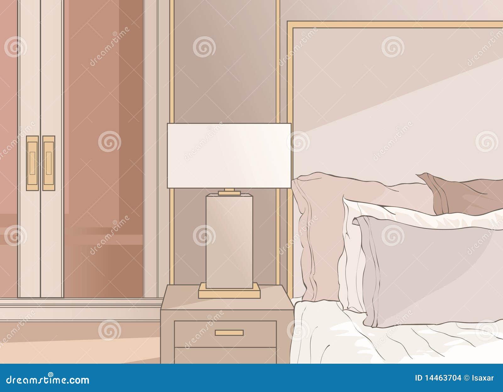 Camera da letto matrice nel beige immagini stock immagine 14463704 - Camera da letto beige ...