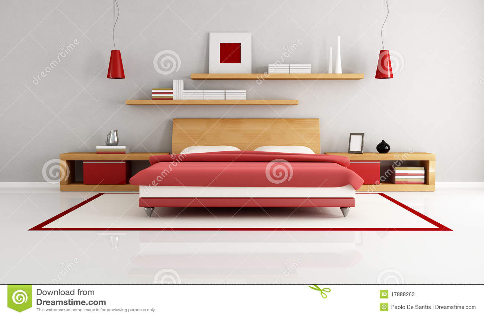 Camera da letto minimalista fotografie stock immagine for Letto minimalista