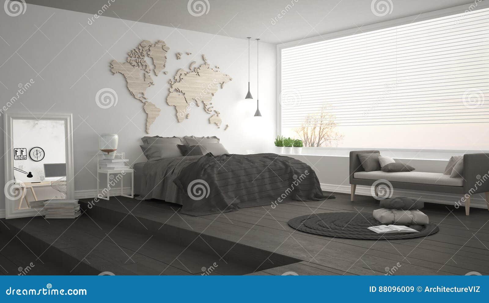 Camere Da Letto Design Minimalista : Camera da letto minimalista scandinava interno moderno