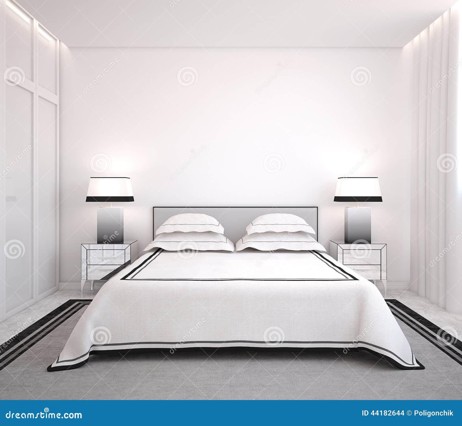 Camera da letto moderna illustrazione di stock illustrazione di grigio 44182644 - Camera letto moderna ...