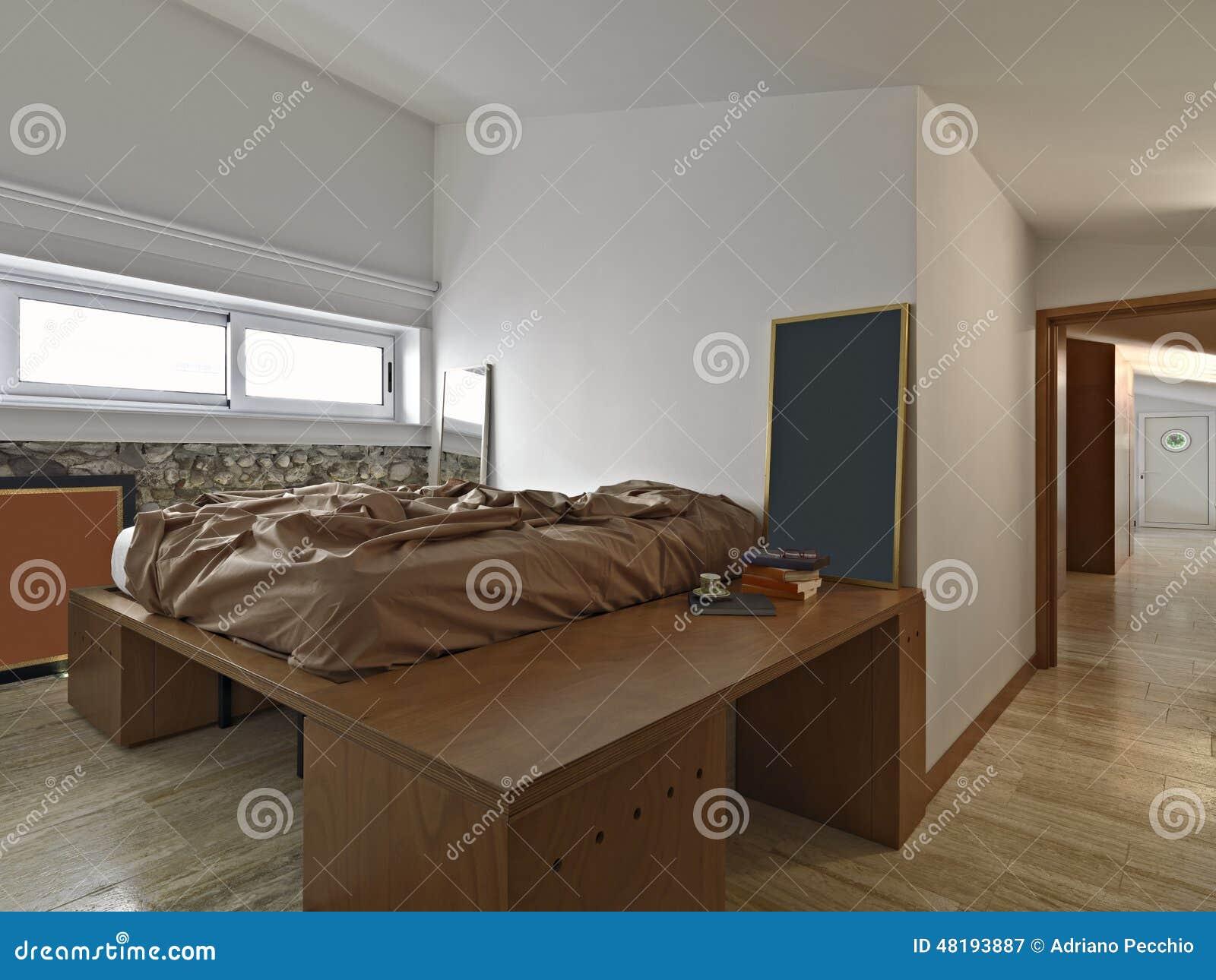 Camera da letto moderna immagine stock immagine di pietra for Idee per camera tumblr