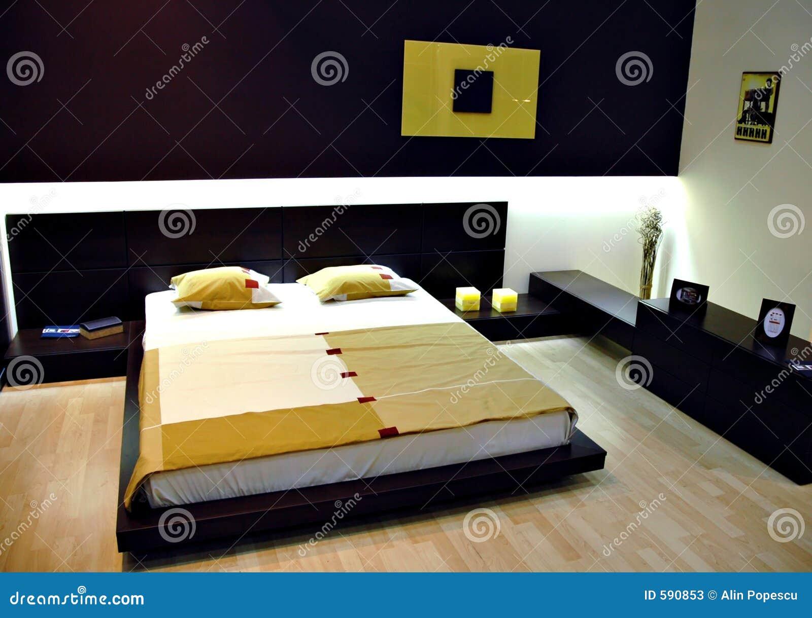 Camera da letto moderna immagine stock. Immagine di interno - 590853