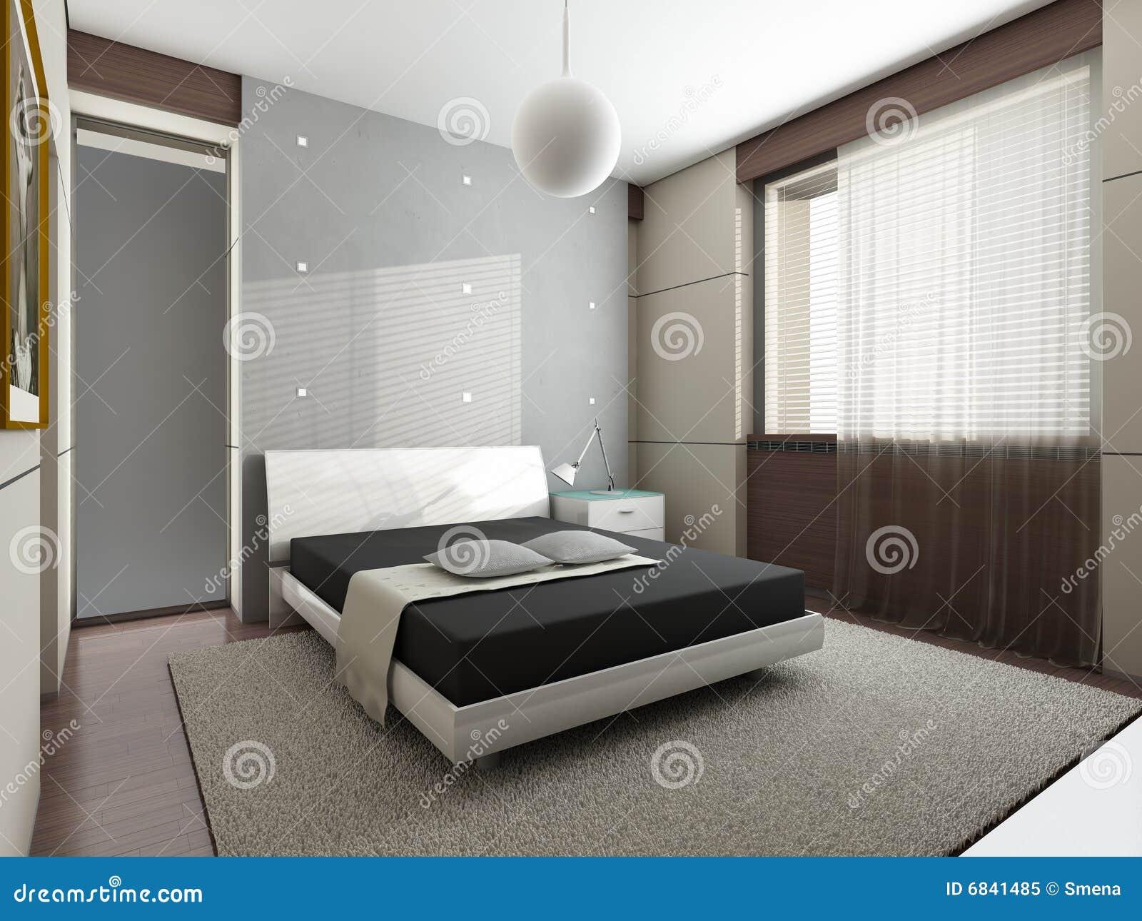 Camera da letto moderna fotografia stock libera da diritti immagine 6841485 - Camera letto moderna ...