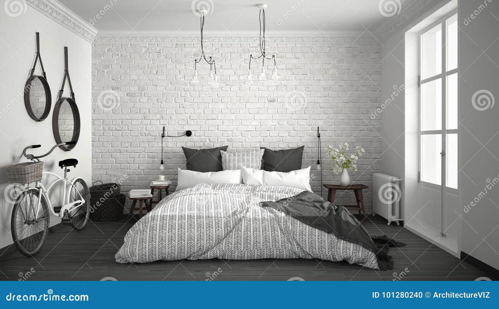 Camere Bianche E Grigie : Camera da letto moderna bianca e grigia joodsecomponisten