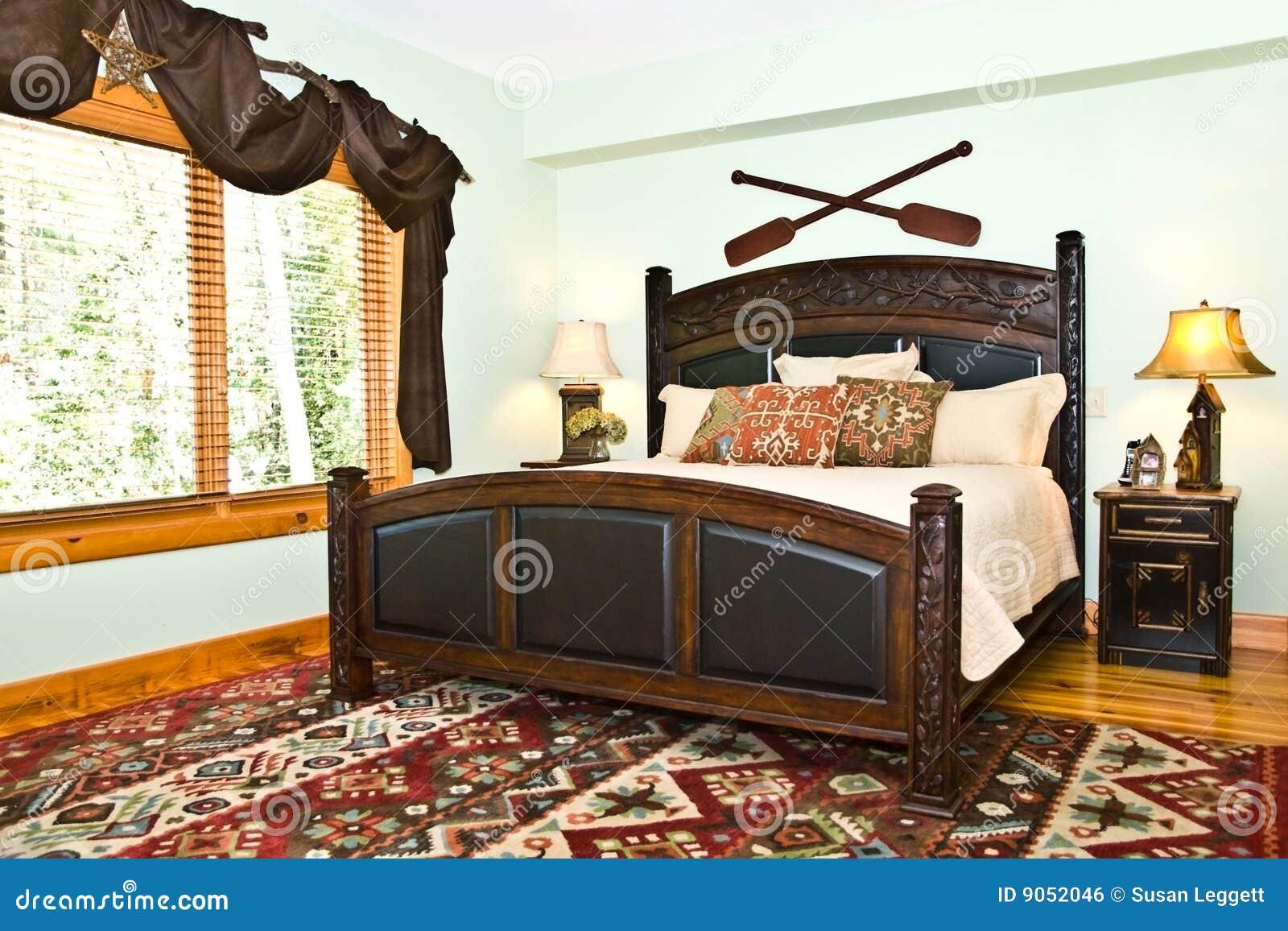 Camera Da Letto Rustica Moderna : Camera da letto moderna decorazione rustica fotografia stock
