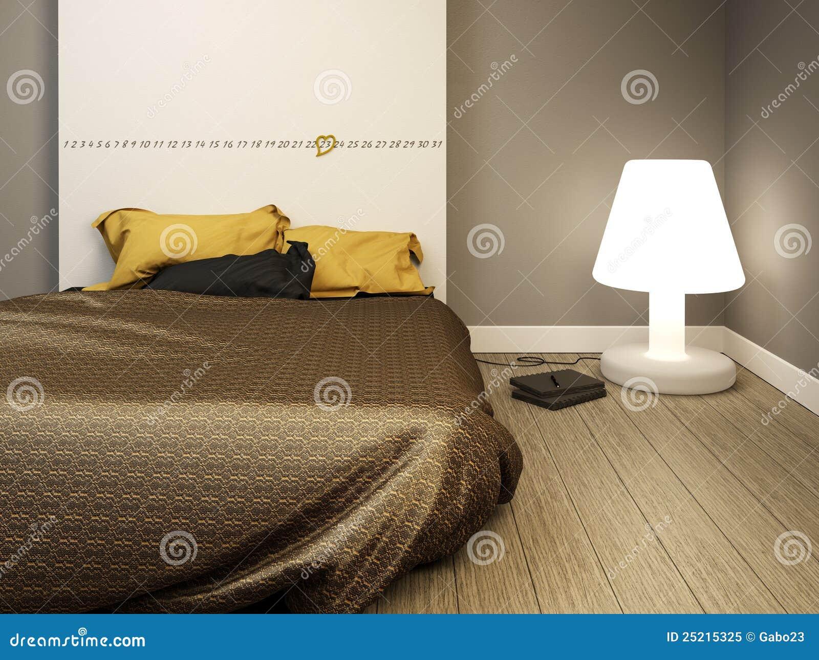 Camera da letto moderna elegante immagine stock immagine di interno calendario 25215325 - Lumi camera da letto moderna ...