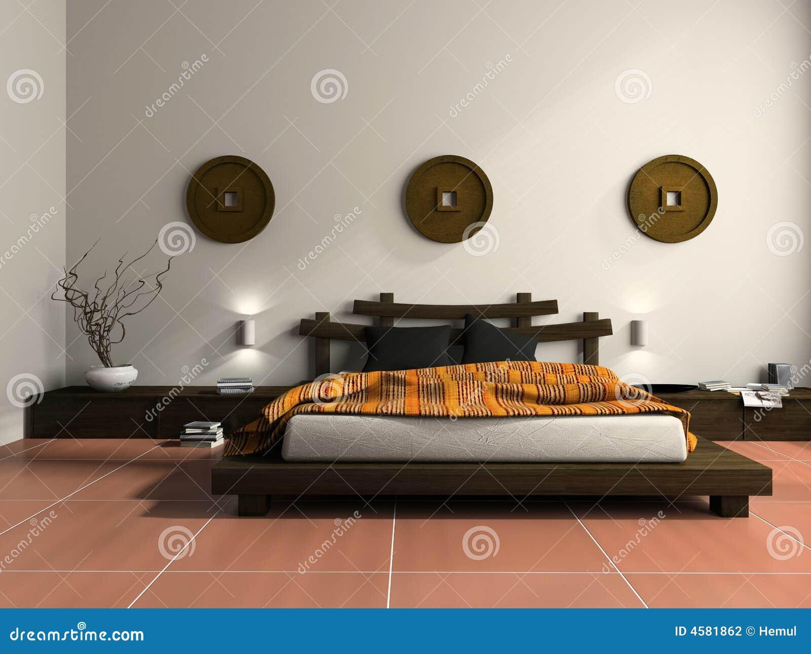Camera Da Letto Etniche Foto : Camera da letto moderna nello stile etnico illustrazione di stock