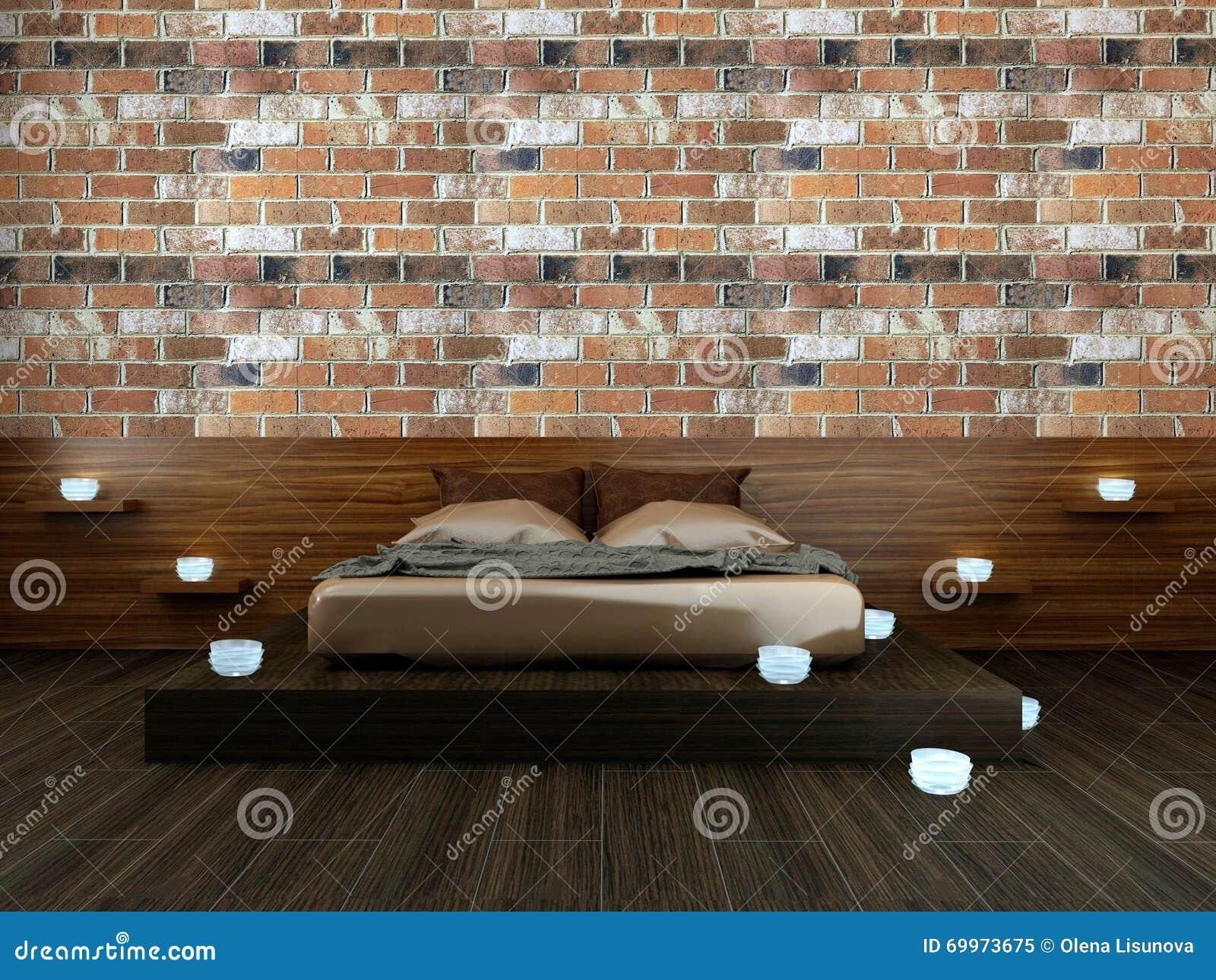 Camera Da Letto Romantica Con Candele : Camera da letto moderna in sottotetto con le candele illustrazione