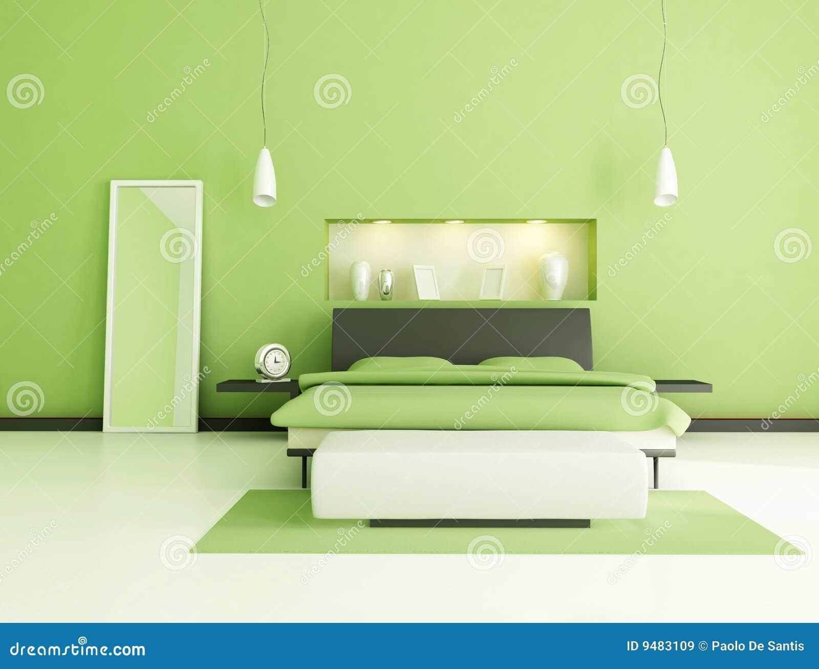Camera da letto moderna verde immagini stock libere da - Immagini camera da letto moderna ...