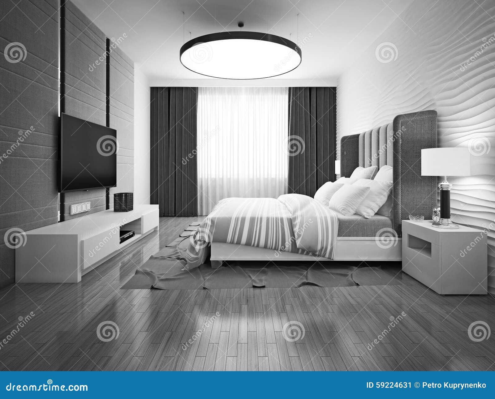 Camere Da Letto Art Deco : Camera da letto monocromatica di art deco immagine stock immagine