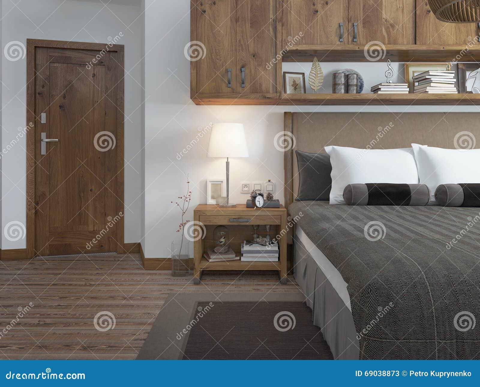 Comò Camera Da Letto Moderna : Camera da letto nello stile moderno con un comodino sul tipo della