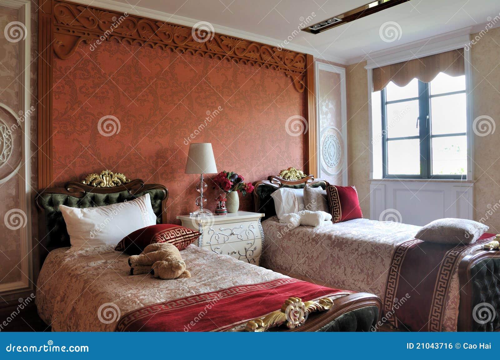 Camera da letto per i bambini nello stile di lusso - Letto per bambini con scivolo ...