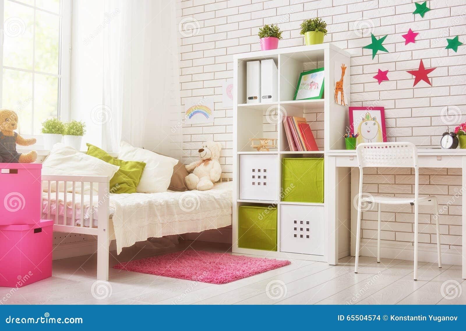 Camera da letto per la ragazza del bambino fotografia for Camera da letto per ragazza