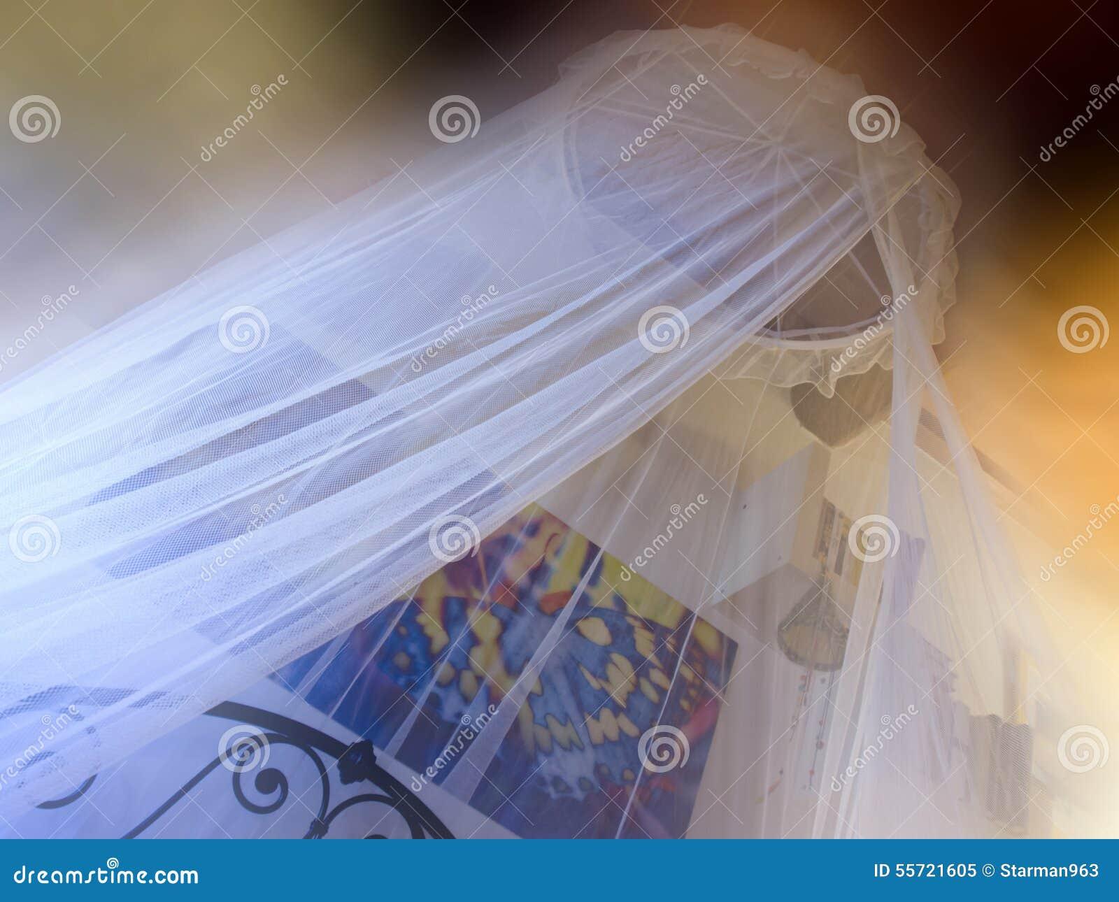 Zanzariera Da Letto : Camera da letto romantica con zanzariera immagine stock immagine