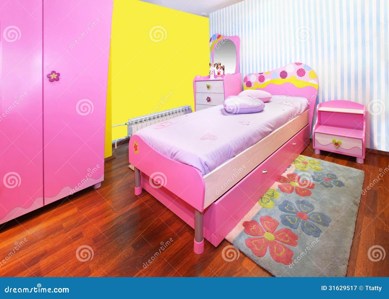 Camera da letto rosa della ragazza stock images 343 photos - Camera da letto ragazza ...