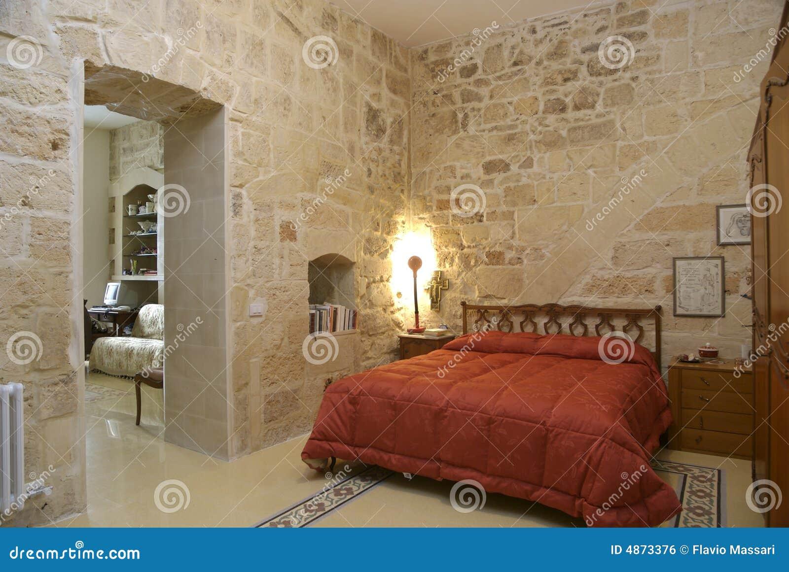 Camera da letto rustica calda fotografia stock immagine - Camino in camera da letto ...