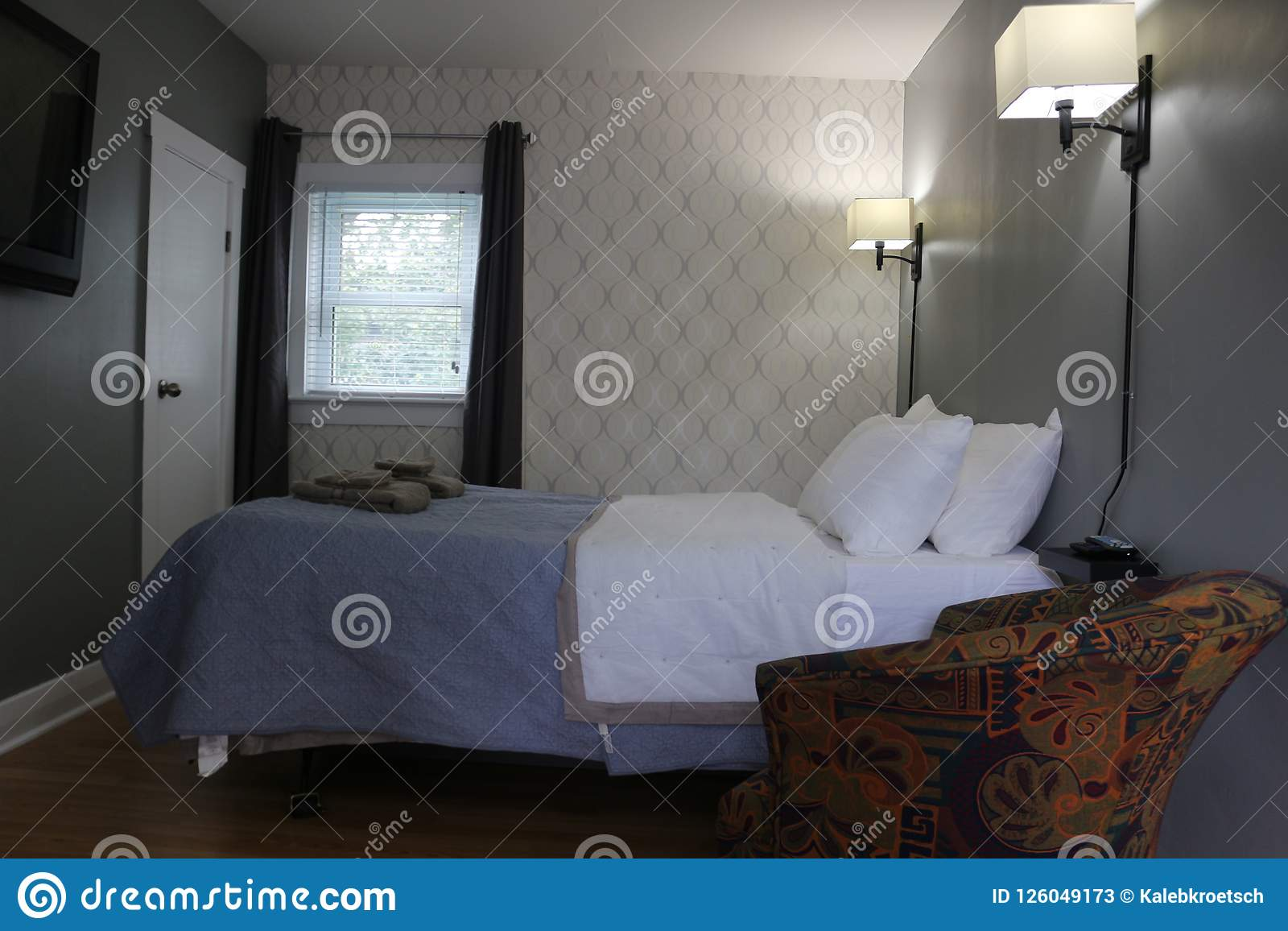Camera Da Letto Stile Studente Semplice Del Dormitorio Con I Lotti ...