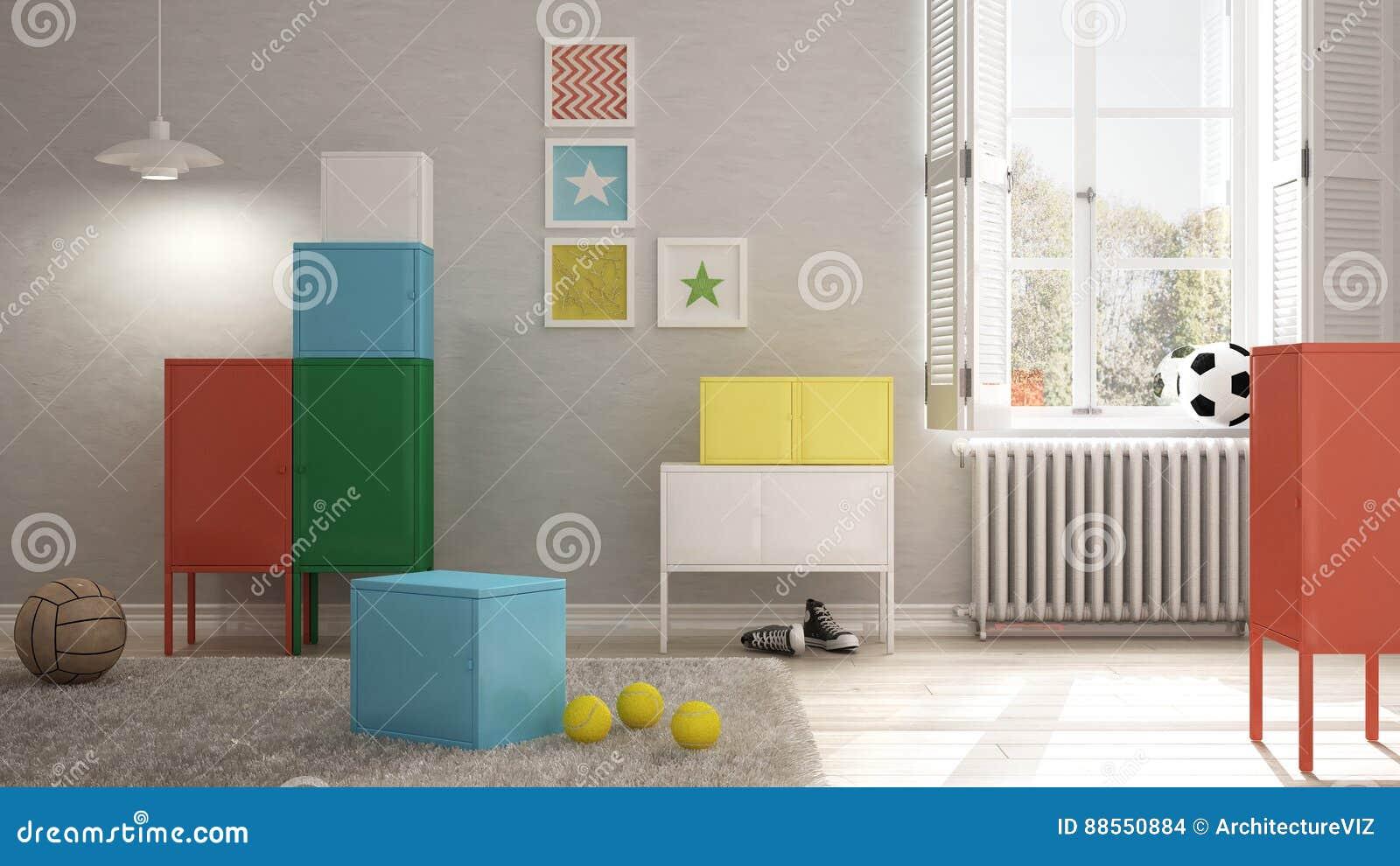 Camere Da Letto Design Minimalista : Camera da letto variopinta dei bambini interior design