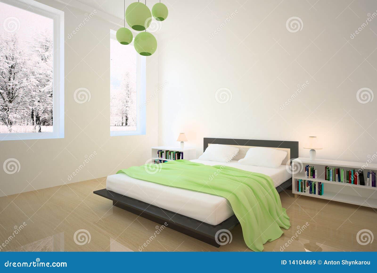 Camera da letto verde illustrazione di stock illustrazione di moderno 14104469 - Camera da letto verde mela ...