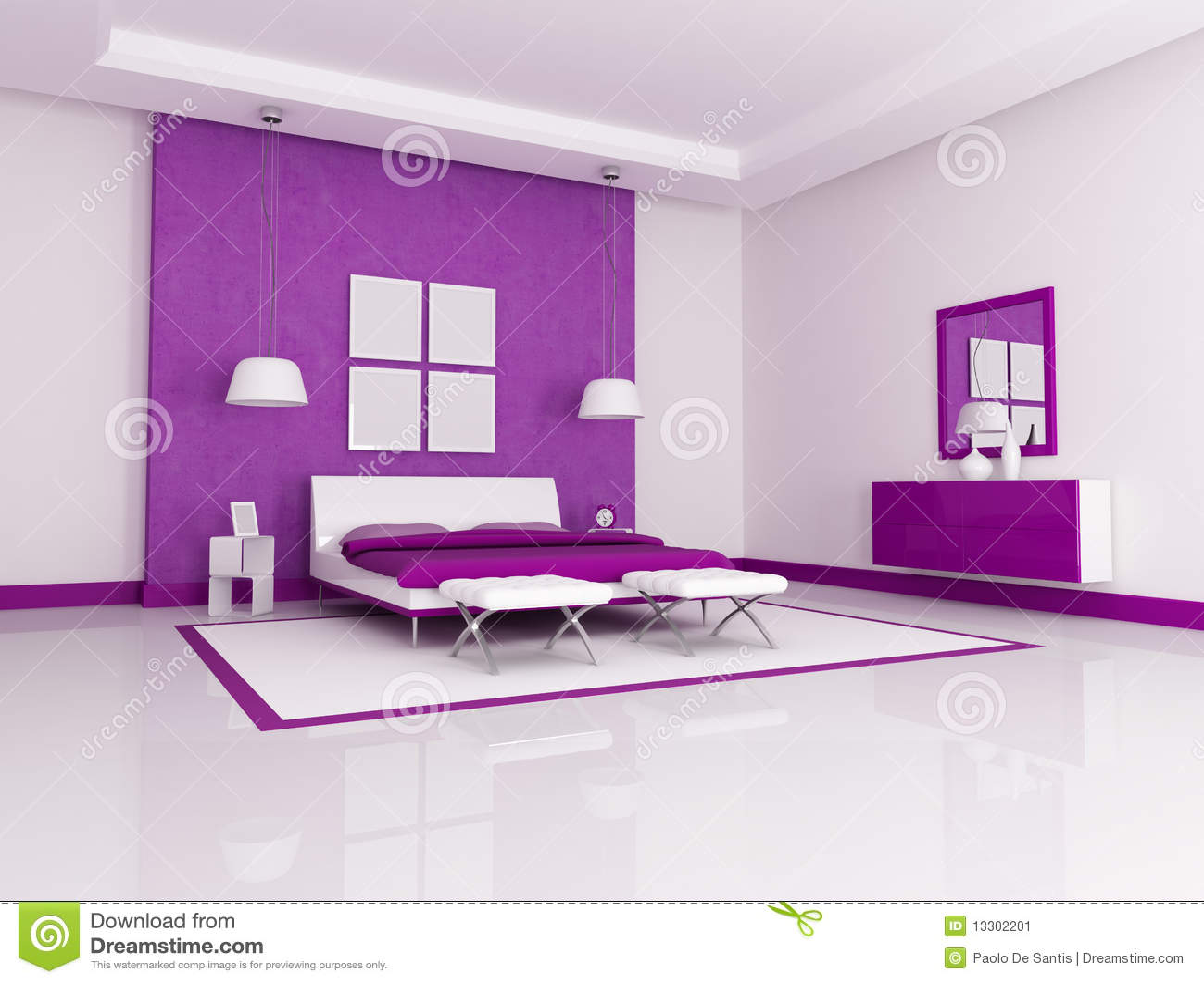 Camera da letto viola immagine stock immagine 13302201 - Camera da letto bianca e viola ...