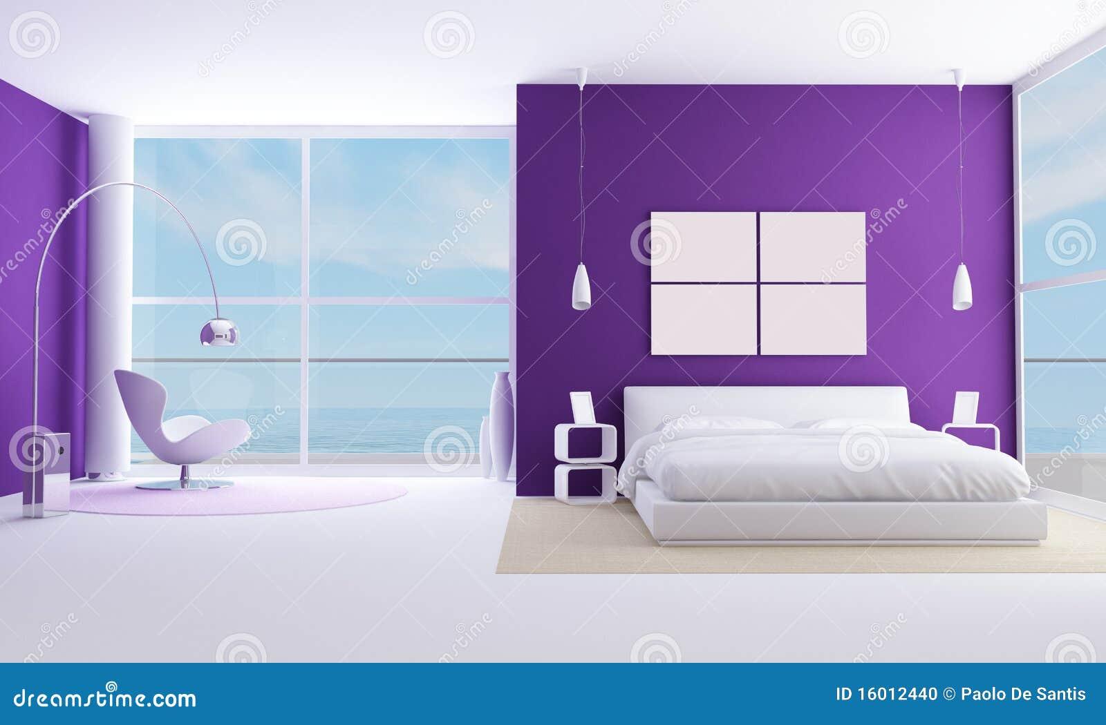 Camere Da Letto Viola : Camera da letto viola illustrazione di stock illustrazione di