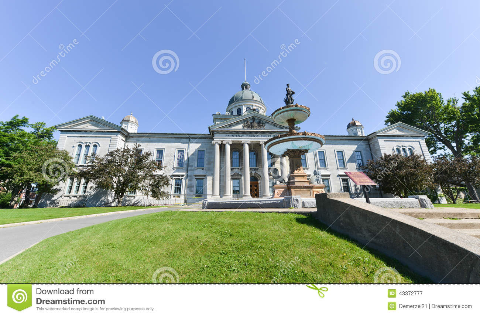 Camera di tribunale distrettuale di Frontenac a Kingston, Ontario, Canada