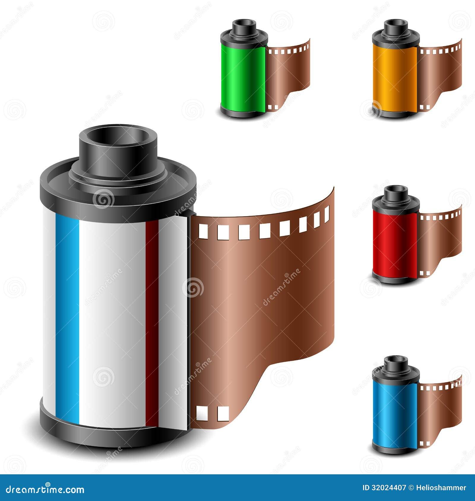 Camera film roll set stock vector. Illustration of camera ...