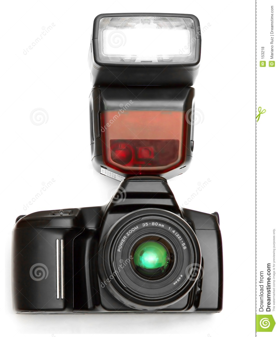 A camera with flash
