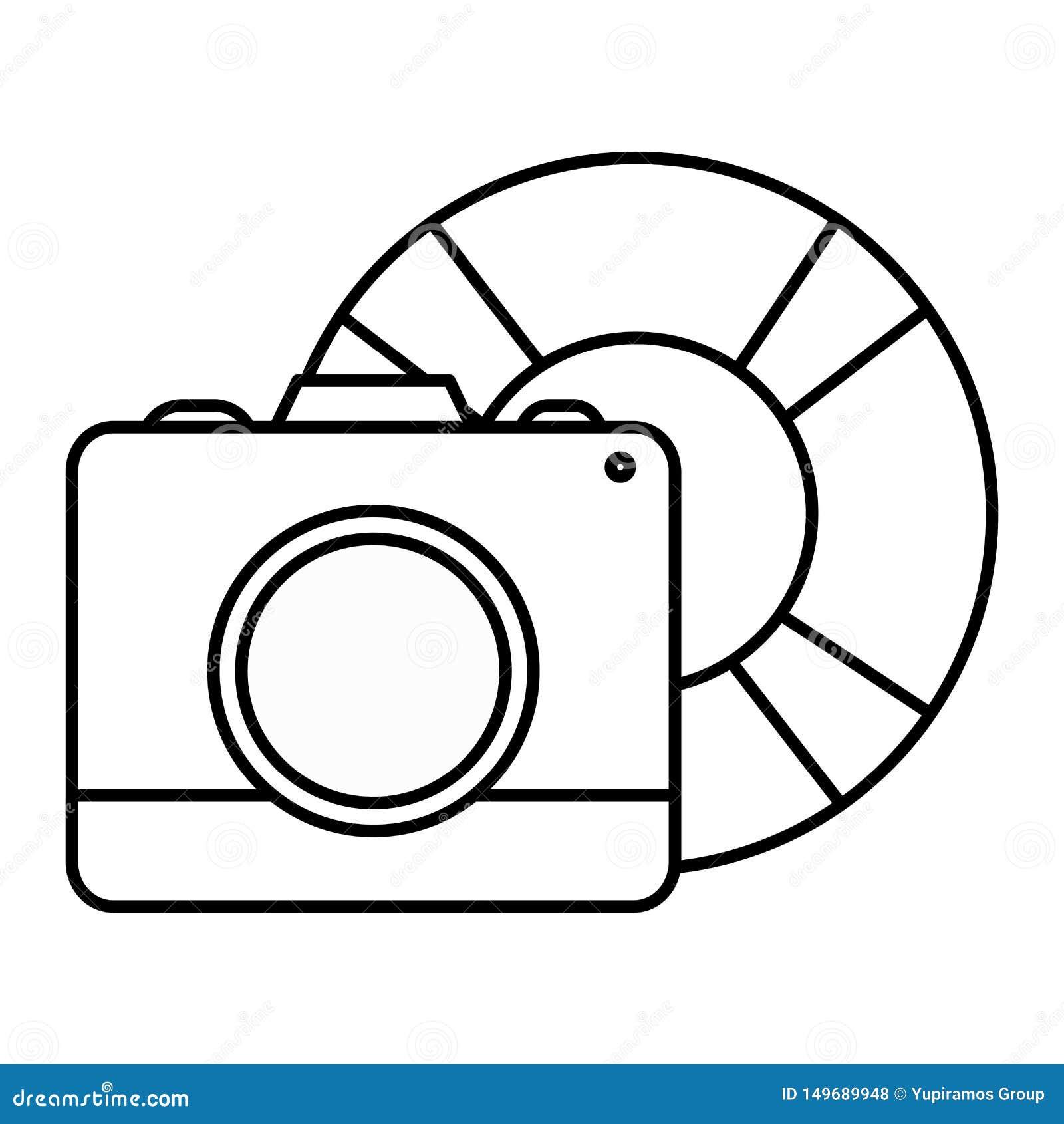 Camera fotografisch met vlotterbadmeester