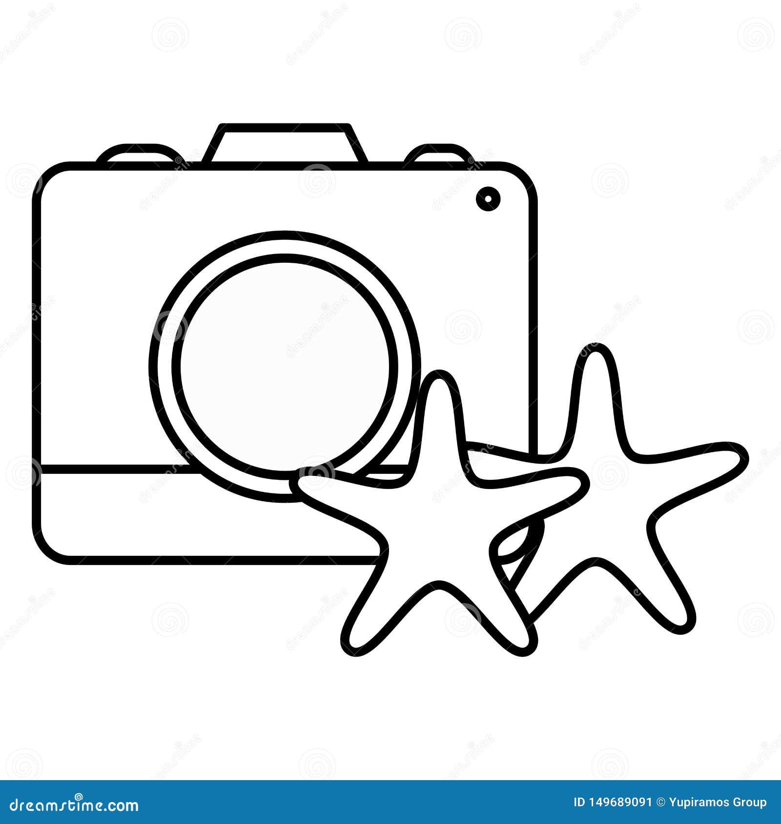 Camera fotografisch met zeestershells