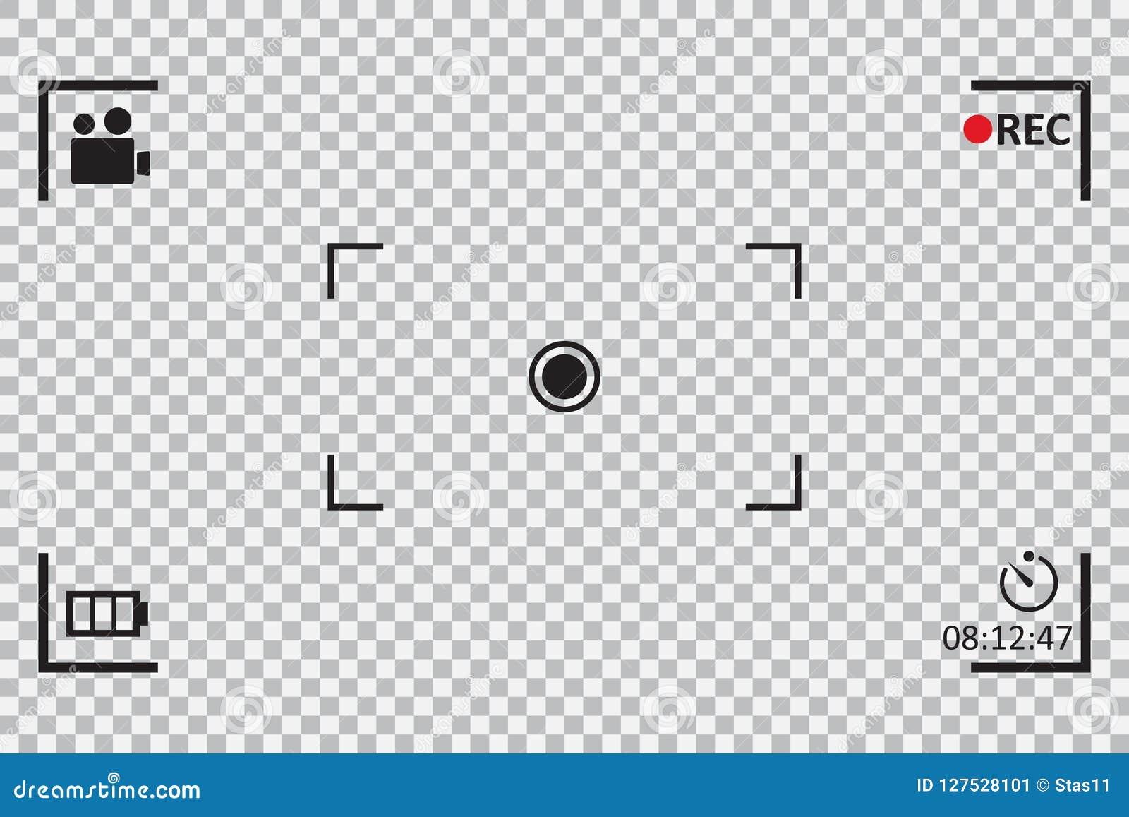 Camera Frame Viewfinder On A Transparent Background  Vector