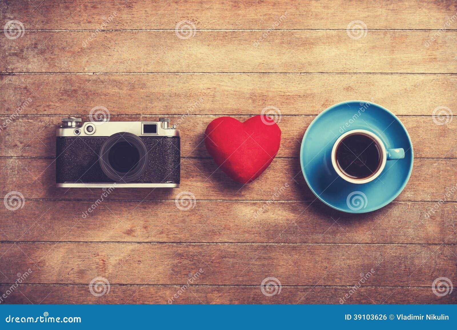 Camera, hart en kop